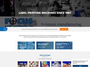 Focus Label Machinery updates website