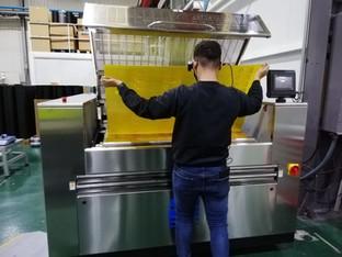 Asahi Photoproducts demonstrates remote smart glass machine installation