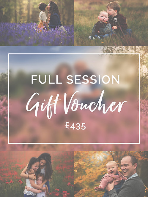 Full Session Gift Voucher