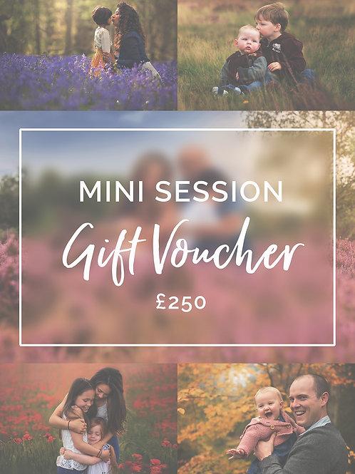 Mini Session Gift Voucher