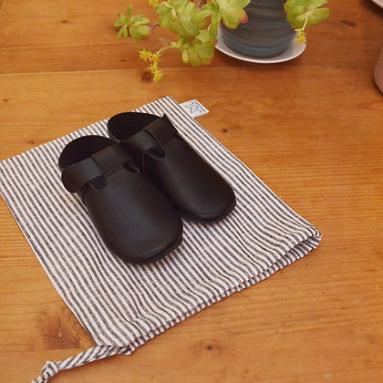 Chaussons souples en cuir | Noir