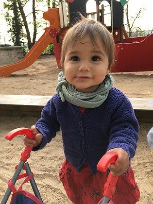 Foulard en double gaze pour enfant de 1 à 7 ans | coloris au choix
