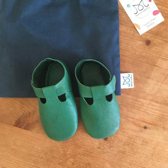 Chaussons d'Adam en cuir | Vert