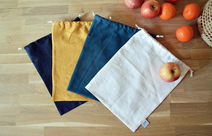 Grand sac à vrac en lin | coloris au choix