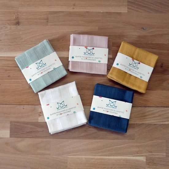 Mouchoirs ou lingettes en coton biologique GOTS