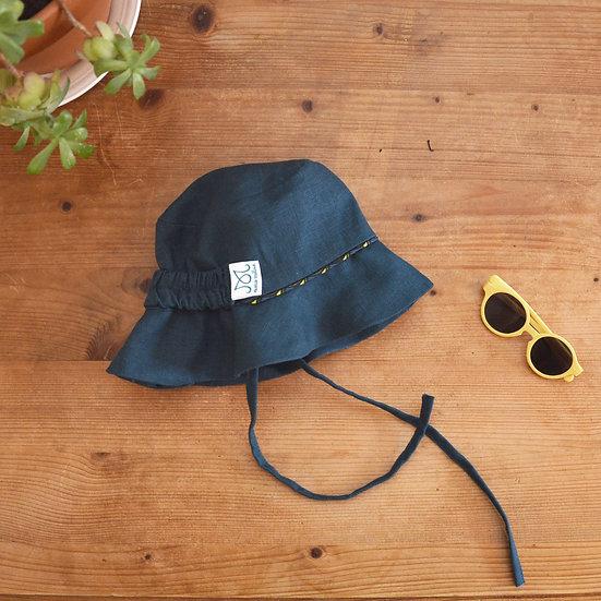 Chapeau pour le soleil   Bleu paon