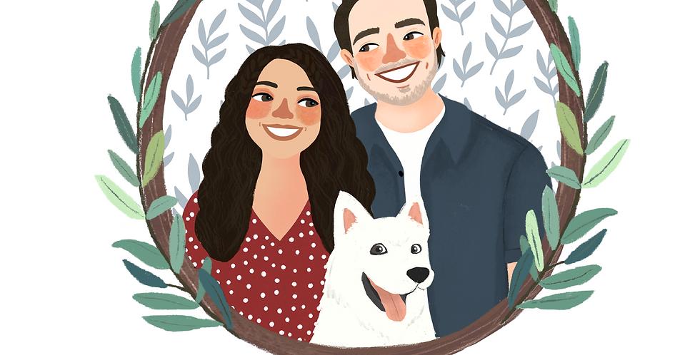 Couple Illustration - Custom Gifts
