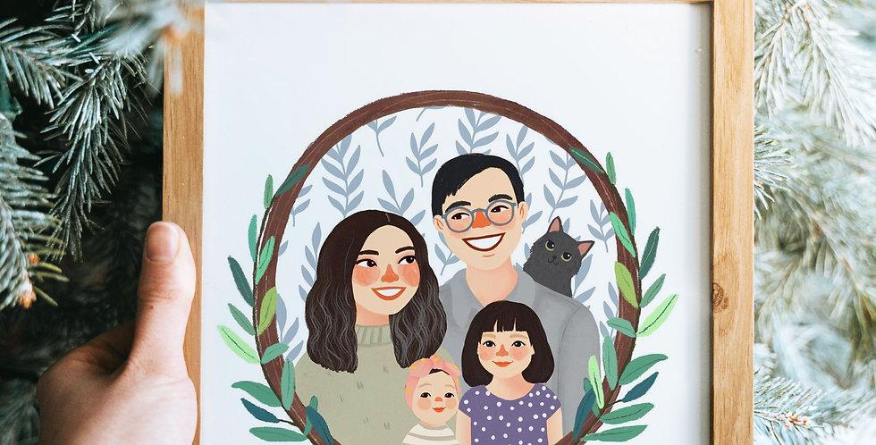Family Portrait - Illustration & Design