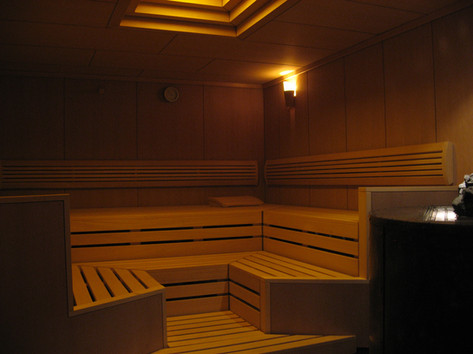 SAUNA WITH CUSTOM STOVE