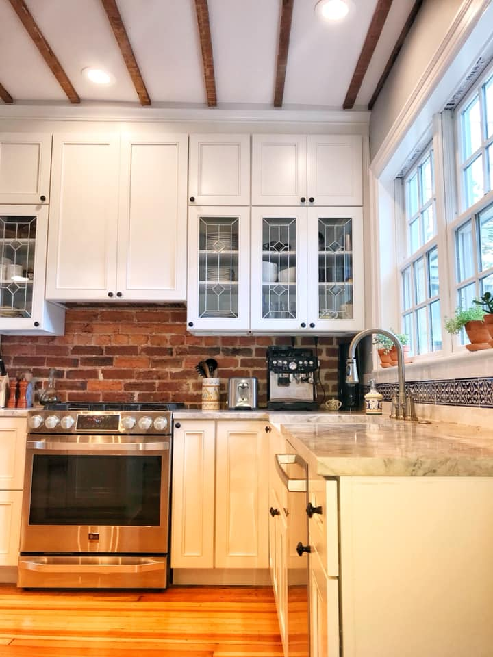 Exposed Brick Backsplash