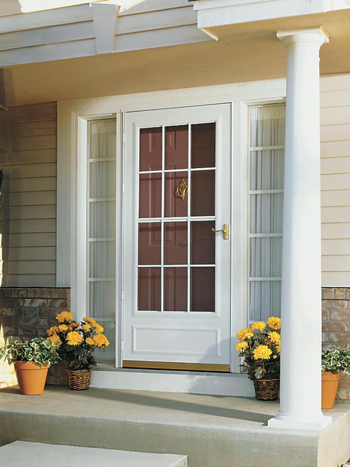 Front door with storm door