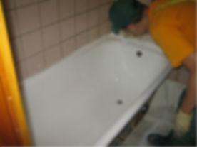 заливка ванны, реставрация ванн, как отремонтировать ванну,  как отреставрировать чугунную ванну, как покрасить ванну