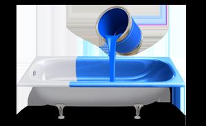 Заливка ванны,  метод налива, покрытие ванн жидким акрилом, обновить ванну