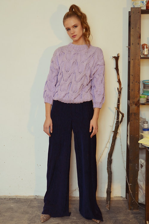 Short sleeve sweater - lilac