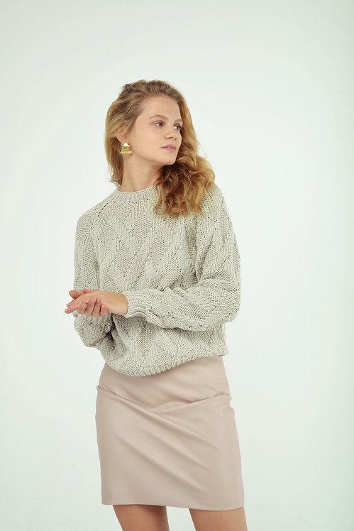 Rhombus sweater - biege