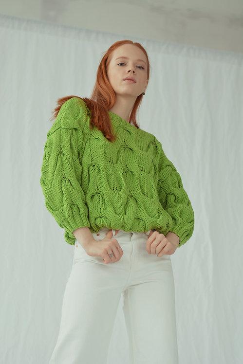 Short sleeve sweater - green