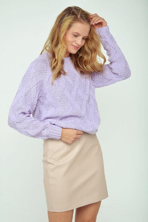 Rhombus sweater - lilac