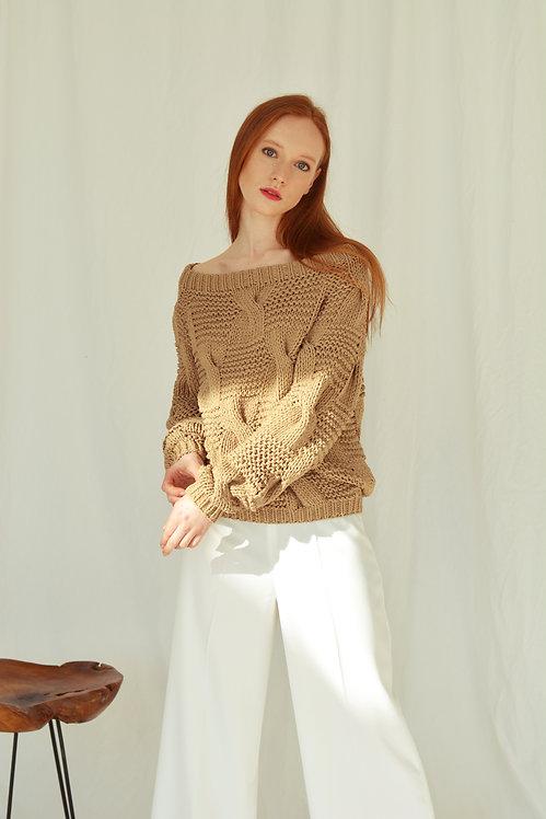 Пуловер на одно плечо (10 цветов!)