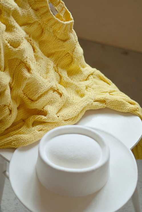 Пуловер с рукавом 3/4 лимон