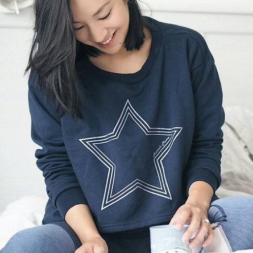 NAVY Silver Star Breastfeeding Friendly Sweatshirt