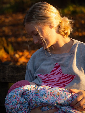 BREASTFEEDING SWEATSHIRT Pink Zebra Star