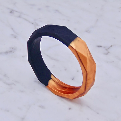 Teething Bangle (Black and Copper)