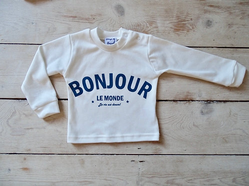 Bonjour Le Monde! Baby Twinning Top (Tommy's)