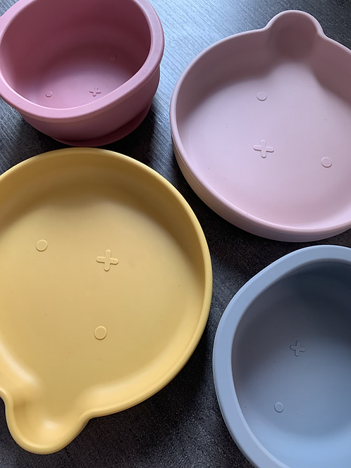 Silicone Suction Bear Weaning Bowl