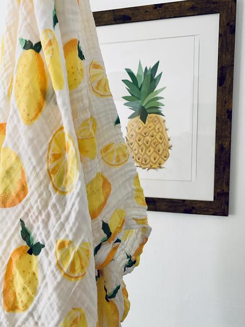 Lemon Grove Muslin Swaddle Blanket