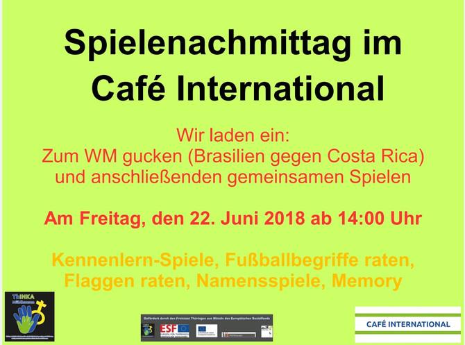 Unterstützung im Café International