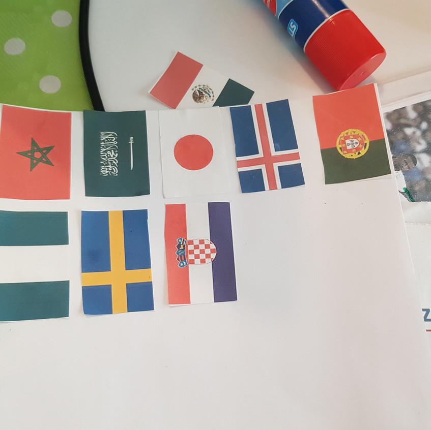 Flaggen der WM