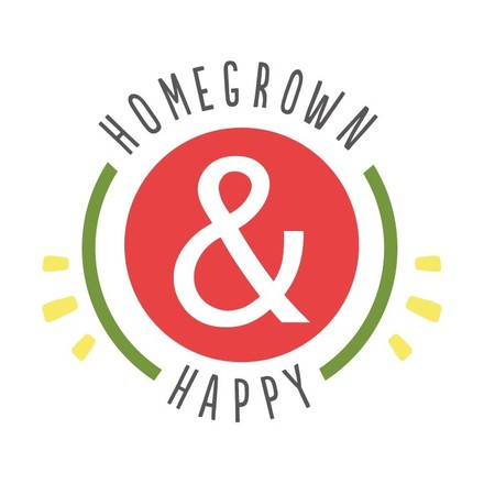 home grown and happy logo USE