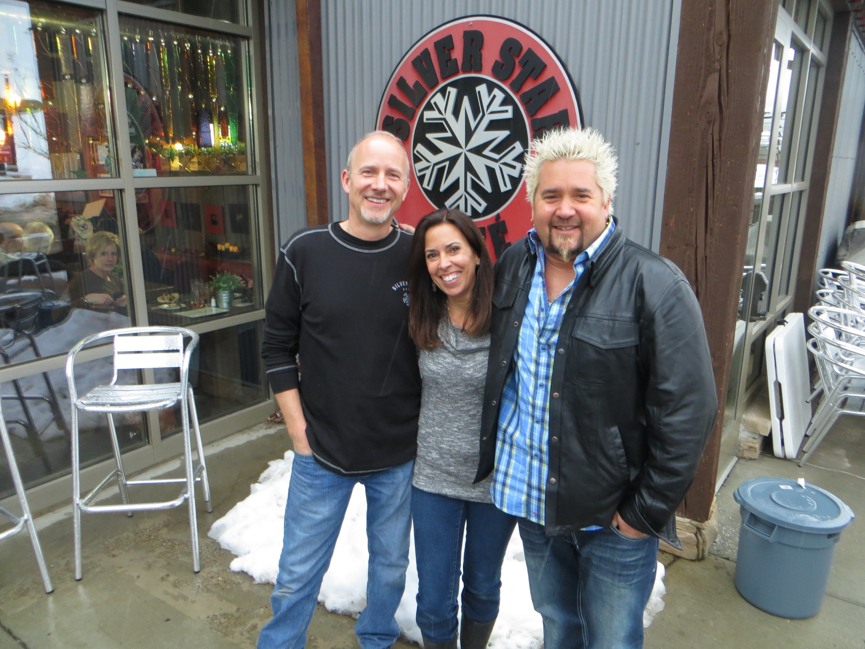 Lisa and Jeff with Guy Fieri