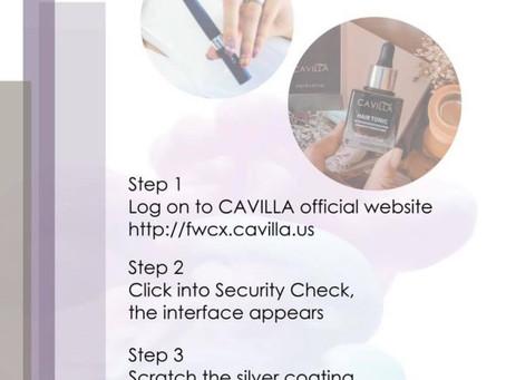 Cavilla Security & Authenticity Check