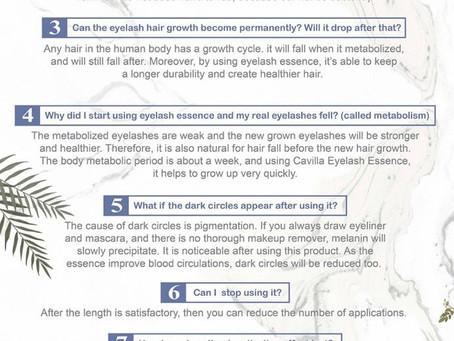 FAQs of Cavilla Eyelash Serum