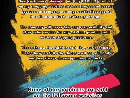 DO NOT buy CAVILLA from Shopee/Lazada etc