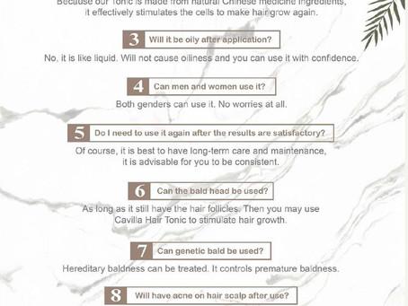FAQs of Cavilla Hair Tonic