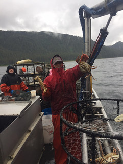 Pulling in Crab Pots