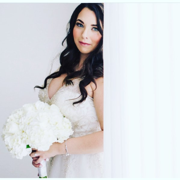 Beautiful Bride 💕💕 Hair & Makeup by me