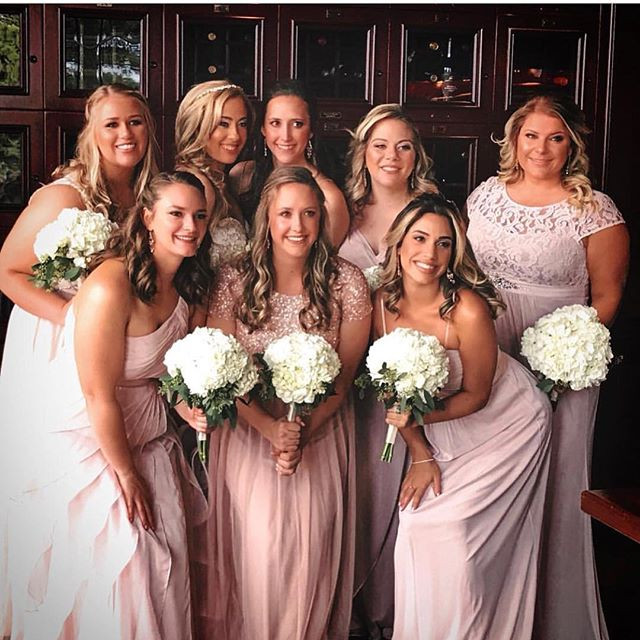 Bridal party hair & makeup by Rouge Team
