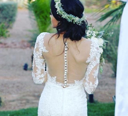 Beautiful Boho hair on this bride by _be