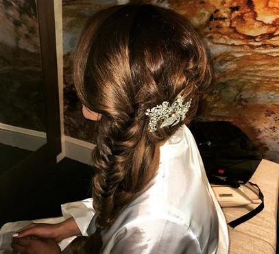 Bridal hair today😀 #bride #hair #bridal
