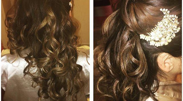 Bridal Hair 😀 #Bride #bridalstyle #brid