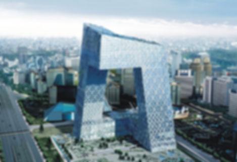башня центрального телевидения Китая  в Пекине