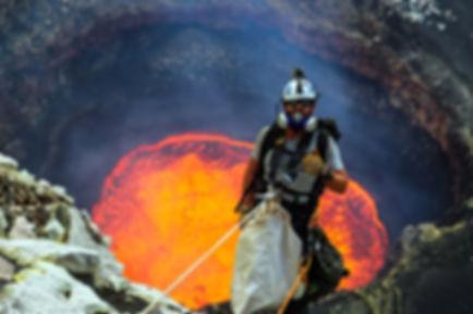 опускание в жерло вулкана