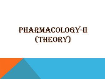 PHARMACOLOGY-II (Theory)