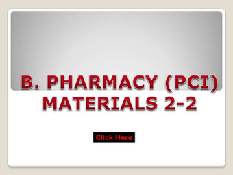 B.Pharm (PCI) Materials 2-2
