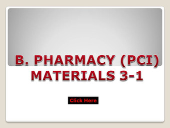 B.Pharm (PCI) Materials 3-1