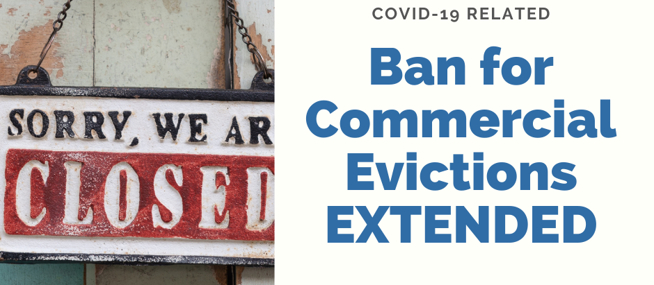 COVID-19-Related Ban on Commercial Evictions Extended
