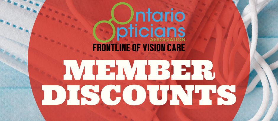 Member discounts on PPE From Ming's Optical and icare shield